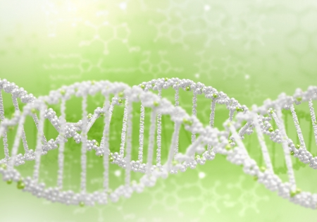 Digital illustration of dna structure on colour background Stock Illustration - 15664563
