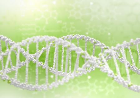 Digital illustration of dna structure on colour background Stock Illustration - 15664563