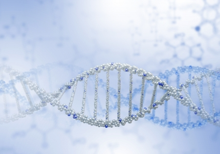 Digital illustration of dna structure on colour background Stock Illustration - 15696754