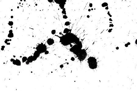Black drop ink splatter  Gloss brush paint spot, grunge blot, art blob, oil, abstract droplet  Splat, liquid illustration