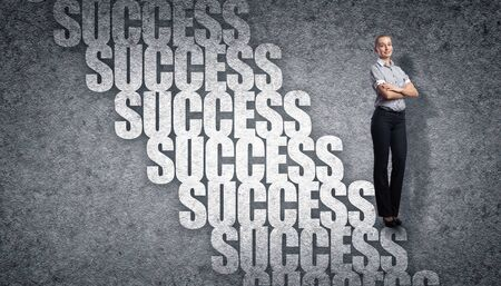 Image of confident business preson with awaiting career growth Stock Photo - 15743607