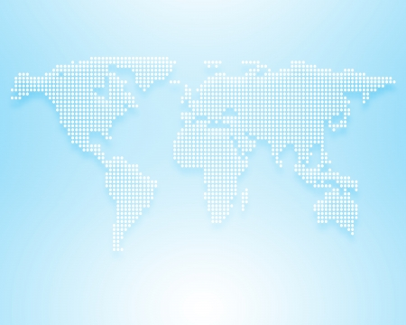 Image of a light blue world map photo