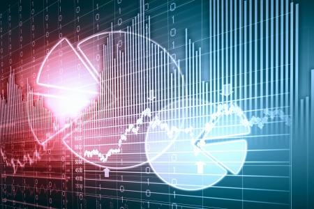 firme: Negocio gráfico con la flecha que muestra los beneficios y ganancias