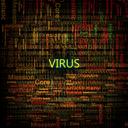 breech: A computer virus detection symbol illustration with word Virus Stock Photo