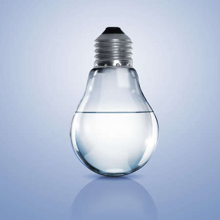 Electric light bulb with clean water inside it Stock Photo - 15765492