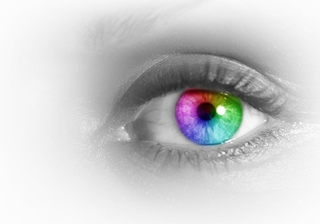Photo of the human eye against grey background Stock Photo - 15850911