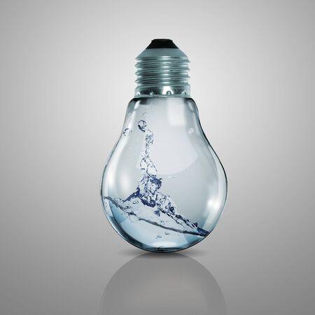 Elektrische lamp met schoon water erin