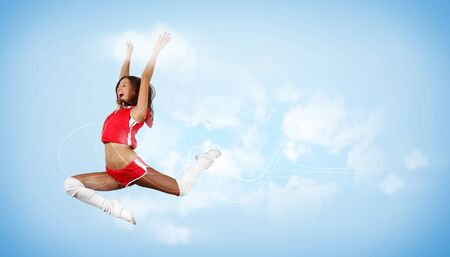Young woman dancer illustration  With lights effect  Stock Illustration - 15851004