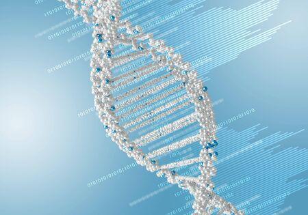 Digital illustration of dna structure on colour background Stock Illustration - 15911597