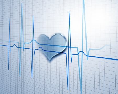 medical background: A medical background with a heart beat   pulse with a heart rate monitor symbol