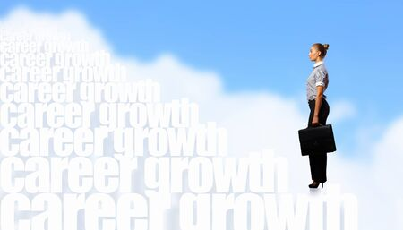 Image of confident business preson with awaiting career growth Stock Photo - 15907924