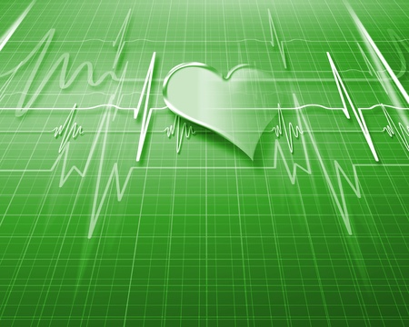 Image of heart beat picture on a colour background photo