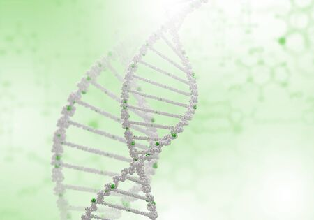 Digital illustration of dna structure on colour background Stock Illustration - 16137050