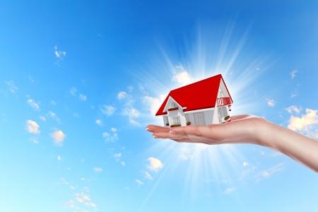 punhado: Conceito M�o oferta realiza��o casa dos bens imobili�rios Punhado cole��o Banco de Imagens