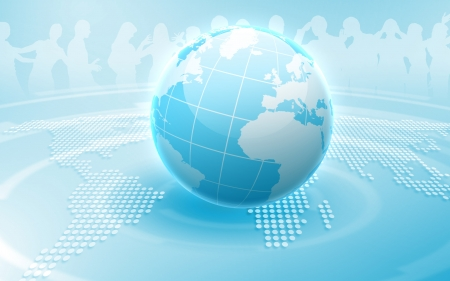 Image of our planet as symbol of social networking Stock Photo - 16137066