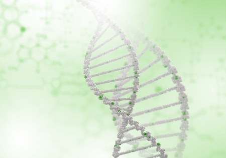 Image of DNA strand against colour background Stock Photo - 16137049