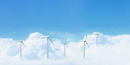 The Alternative energy  Group of energy-producing windmills Stock Photo - 16137051