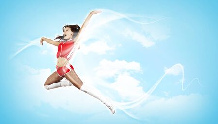 Young woman dancer illustration  With lights effect Stock Illustration - 16304883