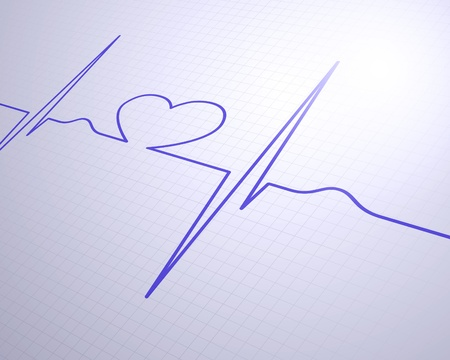 A medical background with a heart beat   pulse with a heart rate monitor symbol photo