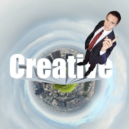 publisher: Design and creativity  in business concept illustration