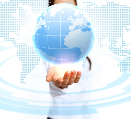 Image of our planet as symbol of social networking Stock Photo - 16287508