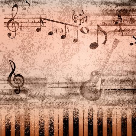 pentagrama musical: Fondo de papel con la nota que canta en Foto de archivo