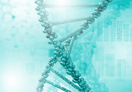Image of DNA strand against colour background Stock Photo - 16318367