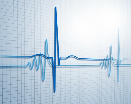 heart rate monitor: A medical background with a heart beat   pulse with a heart rate monitor symbol