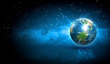 happy planet earth: S�mbolo de la tierra del nuevo a�o en nuestro planeta Feliz A�o Nuevo y Feliz Navidad Elementos de esta imagen son proporcionados por la NASA