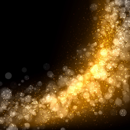 holiday celebration: Gold colour bokeh abstract light background  Illustration