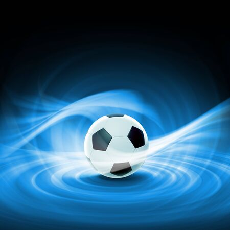 soccerball: Black and white football or soccer ball, colour illustration