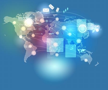 Internet concepto de tecnología de negocios global de la serie de conceptos Foto de archivo