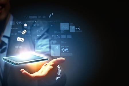 Modern wireless technology and social media illustration Stock Illustration - 16620924