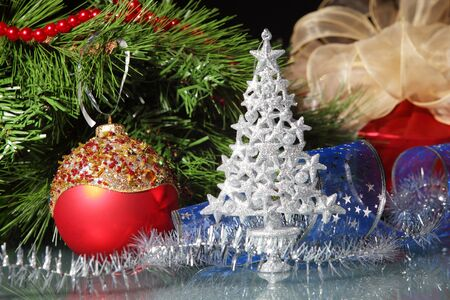bough: Beautiful christmas decorations for a christmas tree
