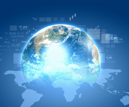 Internet technology concept of global business from concepts series Stock Photo - 16697589