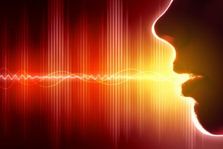 Korektor dźwięku wave tło motyw ilustracji Colour Zdjęcie Seryjne