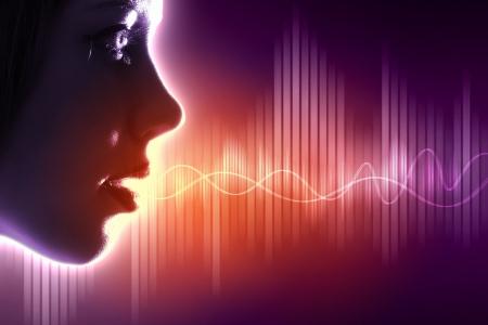 Ecualizador de sonido wave tema de fondo de color ilustración