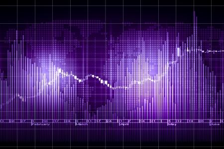 grafica de barras: Negocio gr�fico con la flecha que muestra los beneficios y ganancias