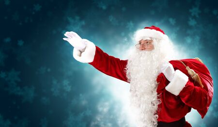 conjure: Christmas theme with Santa holding magical lights in hands