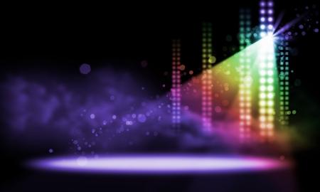 航空ショー: カラフルで鮮やかなステージの舞台背景にスポット ライトします。