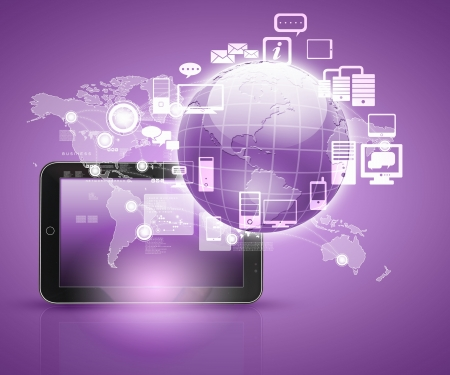 social network, communication in the global computer networks Stock Photo - 16865674