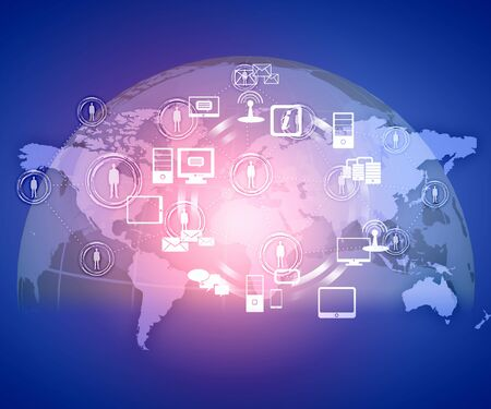 Internet technology concept of global business from concepts series photo