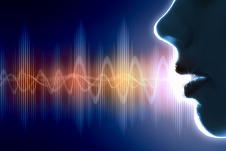 Equalizer sound wave background theme  Colour illustration