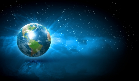 new world: Earth symbol of the new year on our planet  Happy New Year and Merry Christmas  Elements of this image are furnished by NASA