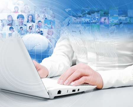 Symbol of social network with people images Stock Photo - 16866032