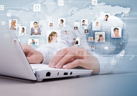 Symbol of social network with people images Stock Photo - 16866283