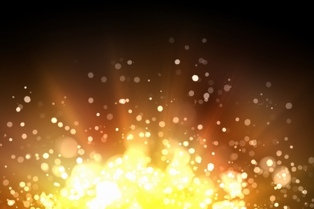 Gold colour bokeh abstract light background  Illustration illustration