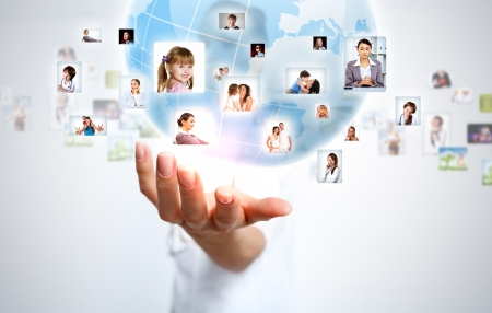 Image of our planet as symbol of social networking Stock Photo - 16942533