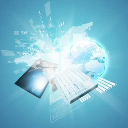 advanced technology: Best Internet Concept of global business from concepts series