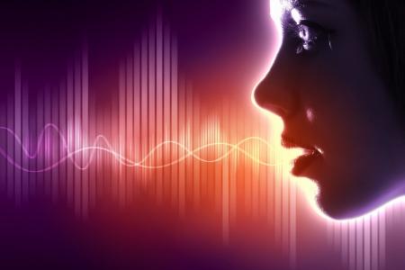 and sound: Ecualizador de sonido wave tema de fondo de color ilustraci�n